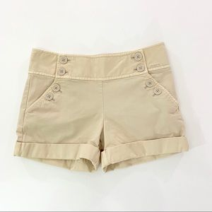 Juicy Couture Button Flap Shorts TanSize 0
